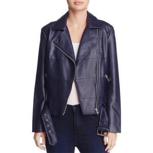 BB Dakota Vegan Navy Motorcycle Jacket